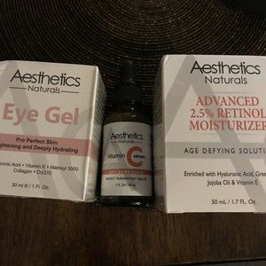Lot of 3 Aesthetics Naturals Products